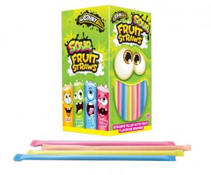 Słomki Johny Bee z oranżadką Sour Fruit Straws