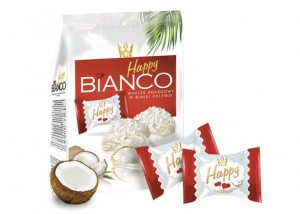 Happy Bianco 140 g Kokosowe Wafelki