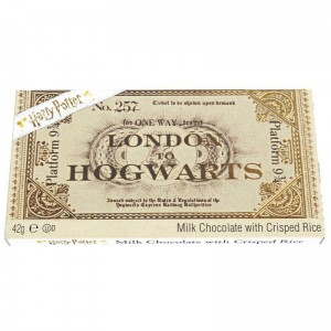 Harry Potter Chocolate Platform 9 3/4 Bilet Hogwart