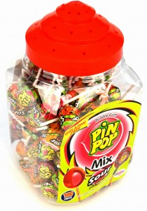 Lizak Aldor Pin Pop Mix Sour Assorted 100 szt